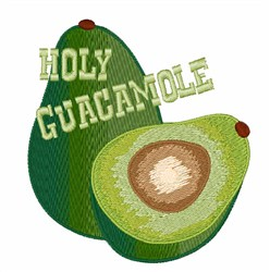 Holy Guacamole embroidery design