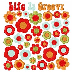 Life Is Groovy embroidery design