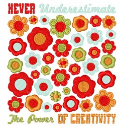 Power Of Creativity embroidery design