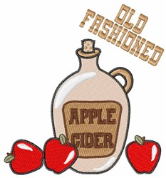Old Fashioned Cider embroidery design