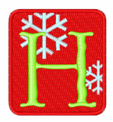 Framed Snowflakes H embroidery design