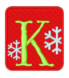 Framed Snowflakes K embroidery design