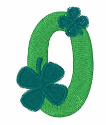 Green Shamrocks 0 embroidery design
