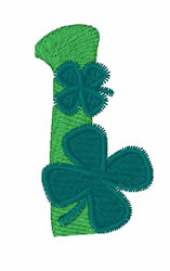 Green Shamrocks 1 embroidery design
