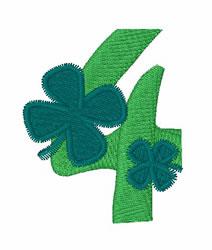 Green Shamrocks 4 embroidery design
