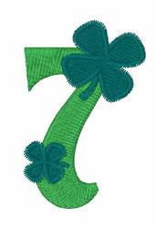 Green Shamrocks 7 embroidery design