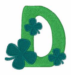 Green Shamrocks D embroidery design