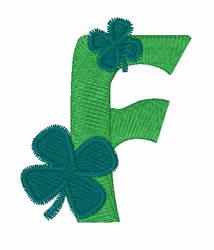 Green Shamrocks F embroidery design