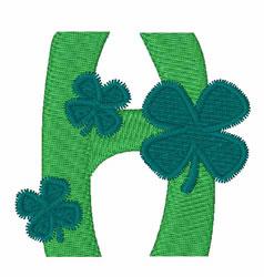 Green Shamrocks H embroidery design