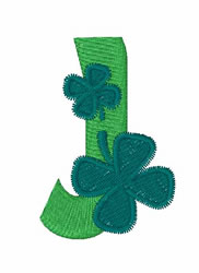 Green Shamrocks J embroidery design
