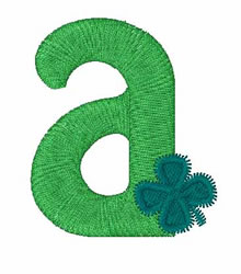 Green Shamrocks a embroidery design