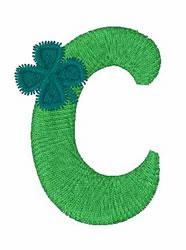 Green Shamrocks c embroidery design