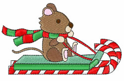 Candy Cane Ride embroidery design