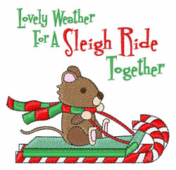 Sleigh Ride Together embroidery design