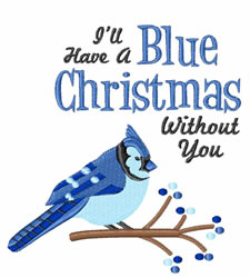 Blue Christmas embroidery design
