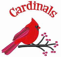 Cardinals embroidery design