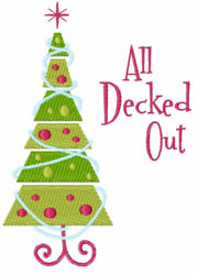All Deck Out embroidery design