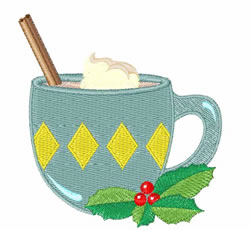 Mug of Eggnog embroidery design