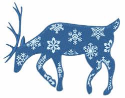 Blue Reindeer embroidery design