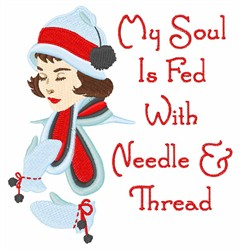 Soul Fed embroidery design