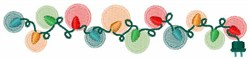 Christmas Lights embroidery design