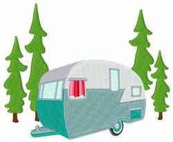 Camper Scene embroidery design