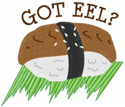 Got Eel? embroidery design