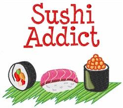Sushi Addict embroidery design