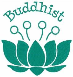 Buddhist Lotus embroidery design