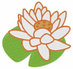 White Lotus embroidery design