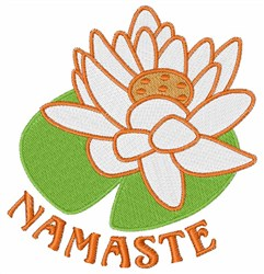 Namaste Lotus embroidery design