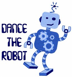 Dance The Robot embroidery design