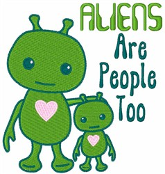 Alien Family embroidery design