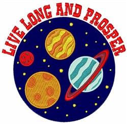 Live Long & Prosper embroidery design