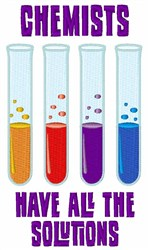 Chemist Test Tube embroidery design