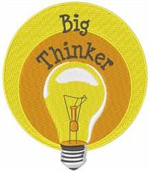 Big Thinker embroidery design
