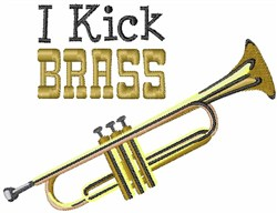 I Kick Brass embroidery design