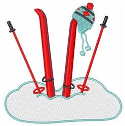 Snow Skis embroidery design
