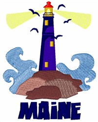 Maine Lighthouse embroidery design