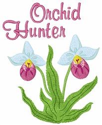 Orchid Hunter embroidery design