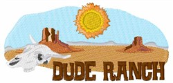 Dude Ranch embroidery design