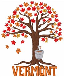 Vermont Maple embroidery design