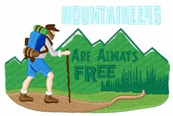 Mountaineers Are Free embroidery design