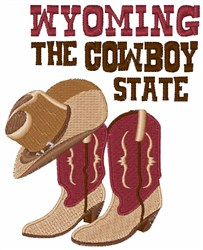 The Cowboy State embroidery design