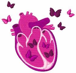 Butterflies Heart embroidery design