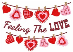 Feeling the Love embroidery design
