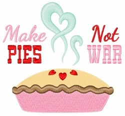 Pies Not War embroidery design