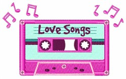 Mix Tape Love Songs embroidery design