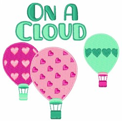 On a Cloud embroidery design