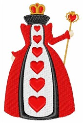 Heart Queen embroidery design